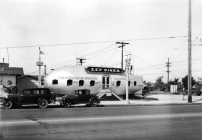 The Zep Diner, Florence Avenue near Figueroa Street, 1931. Los Angeles