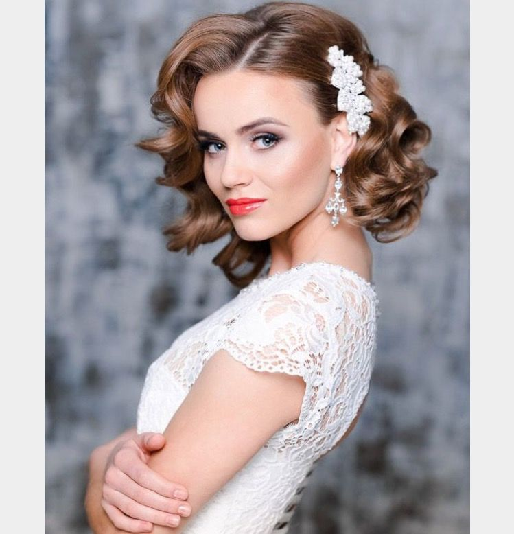 Gorgeous Wedding Hairstyle For Short Hair
