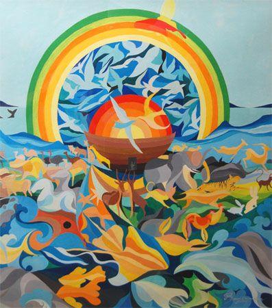 Genesis 7:13, by Sawai Chinnawong