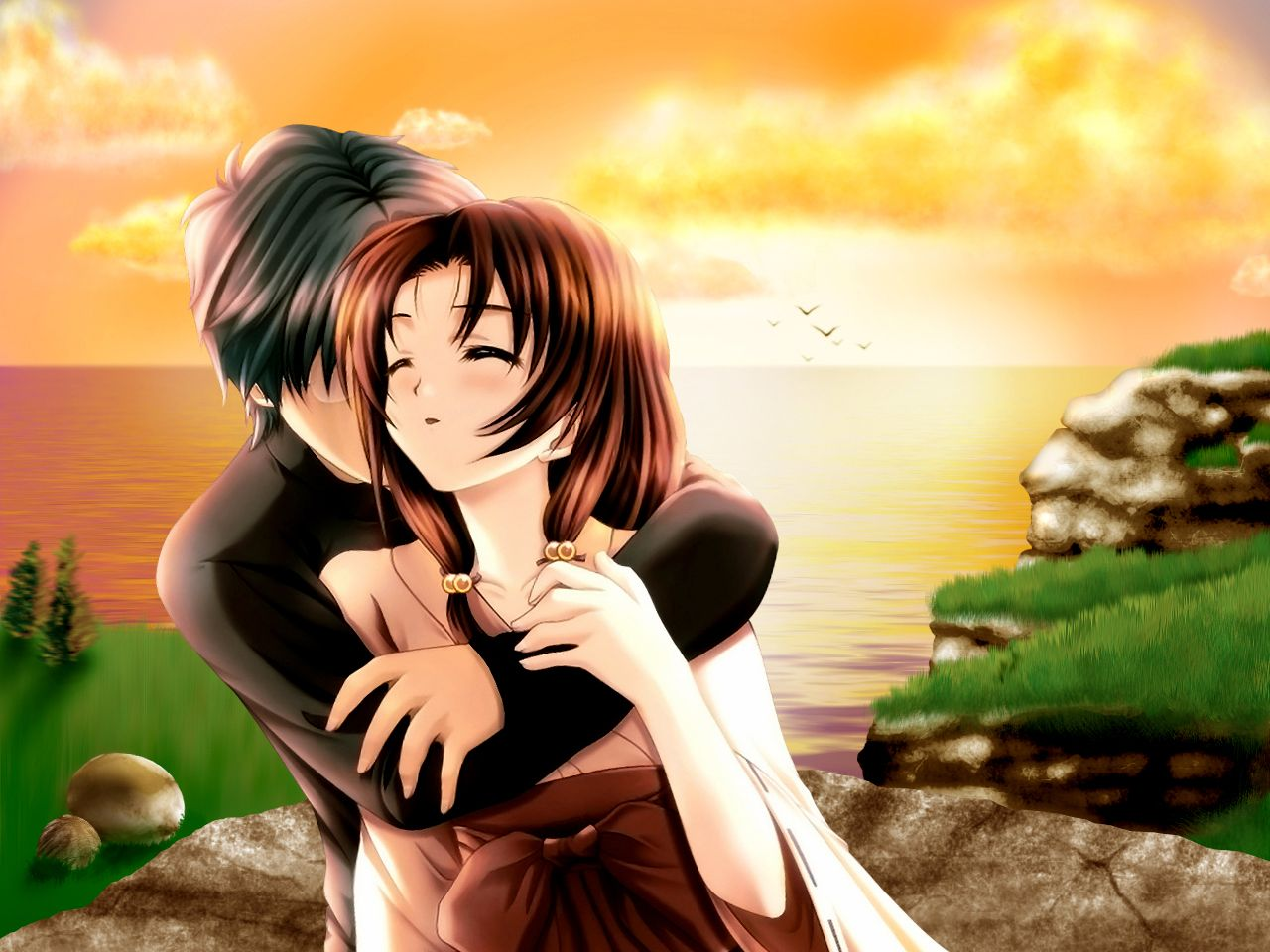 Romantic Couples Anime Wallpapers Loveromantic Wallpapers Chobirdokan