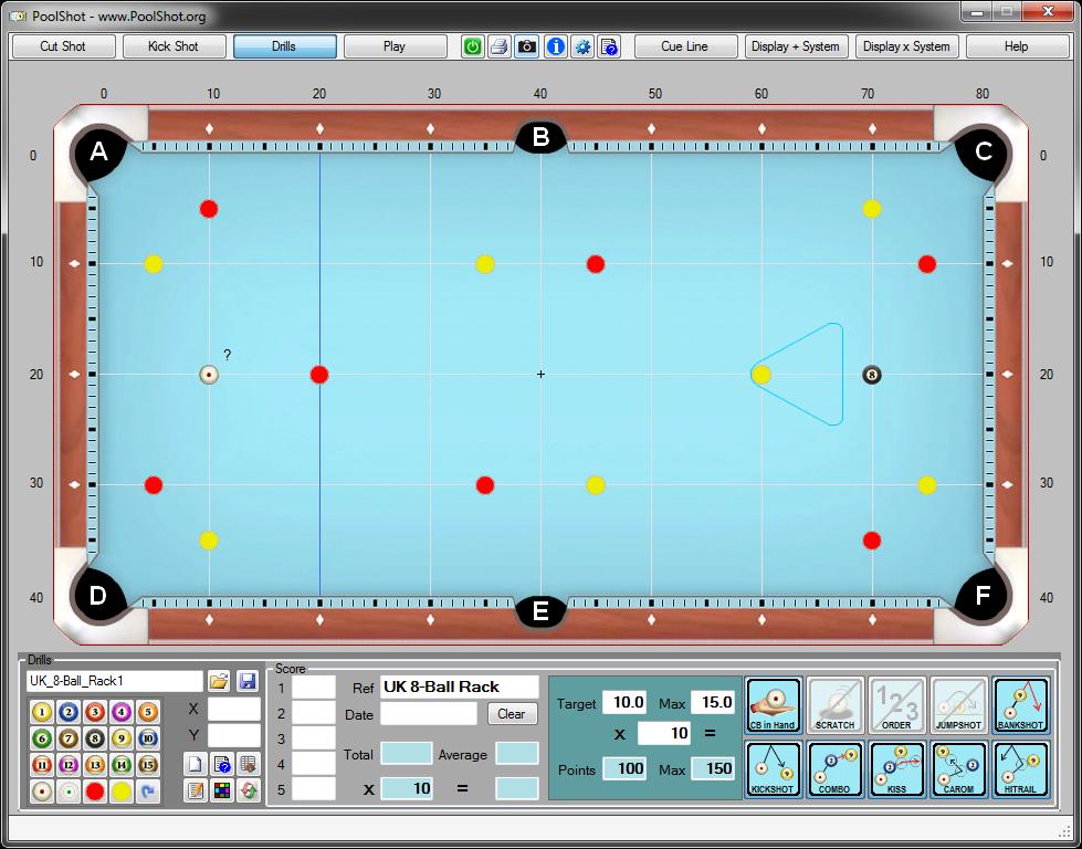 Design practice Drills for UK Pool Billiards pool