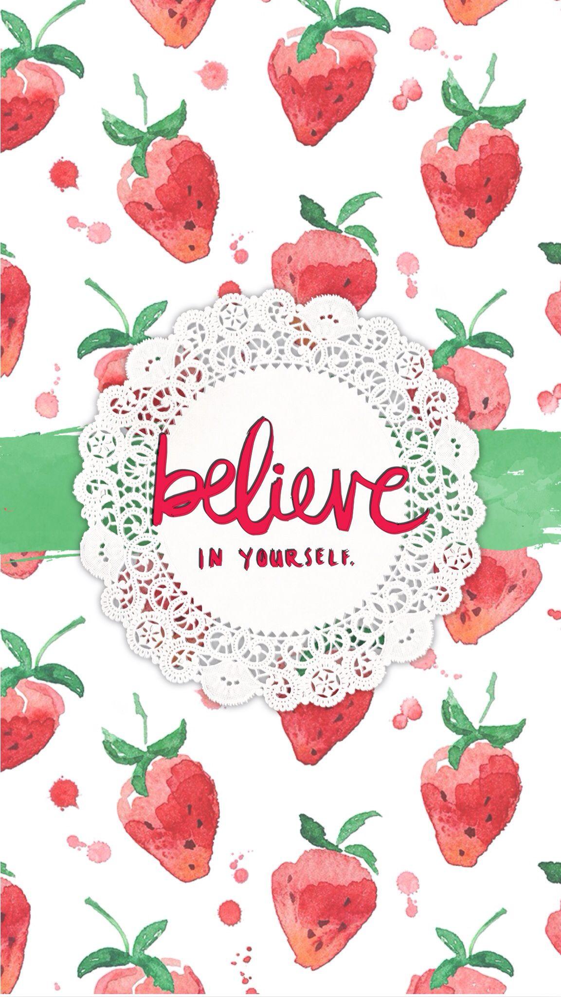 Wallpaper Iphone壁紙 春の苺いちごイチゴ祭り Naver まとめ