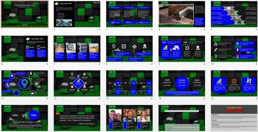 3d PowerPoint by SageFox Free PowerPoint Templates Pinterest - 3d powerpoint template