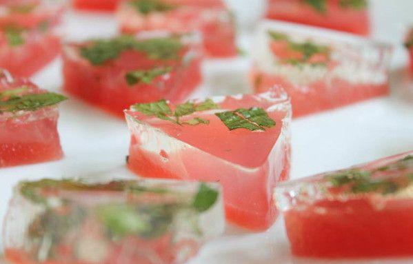Watermelon Mojito Jell-O Shots - The Ultimate List of Jell-O Shots Recipes - Photos
