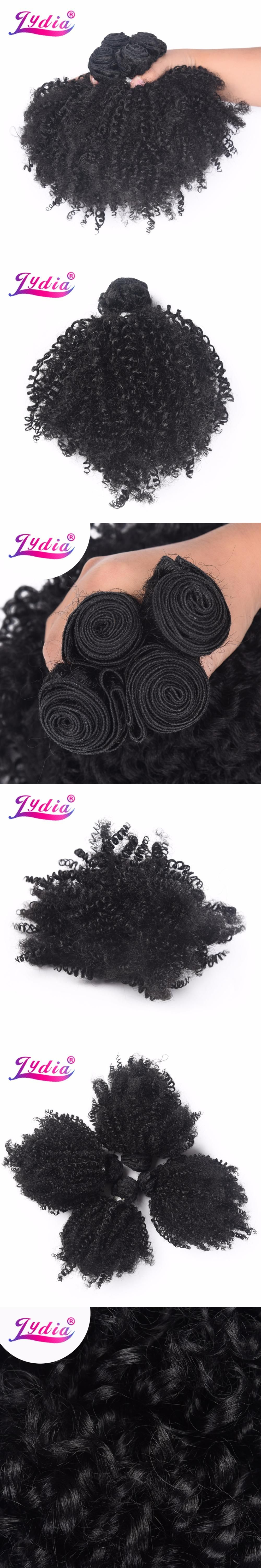 Lydia Synthetic Afro Kinky Curly Hair Weaving 1 Piece Nature Color