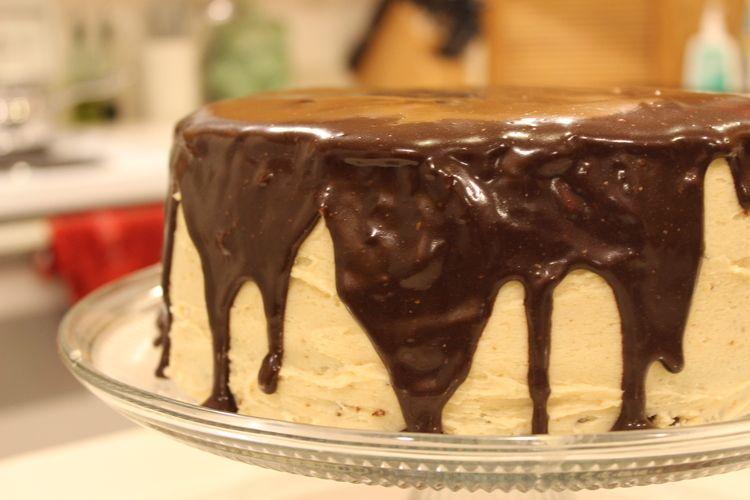 Chocolate peanut butter cake via design keeper recipe by