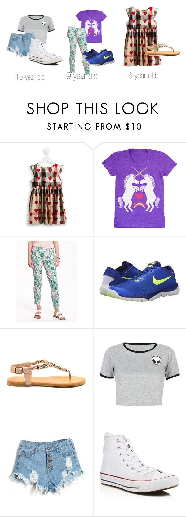 """inspired by @grace1003"" by vivipoo22 ❤ liked on Polyvore featuring Burberry, Old Navy, NIKE, WithChic and Converse"