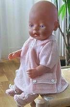 Puppenstrickmuster - Olivia ganz niedlich in gelb und weiss
