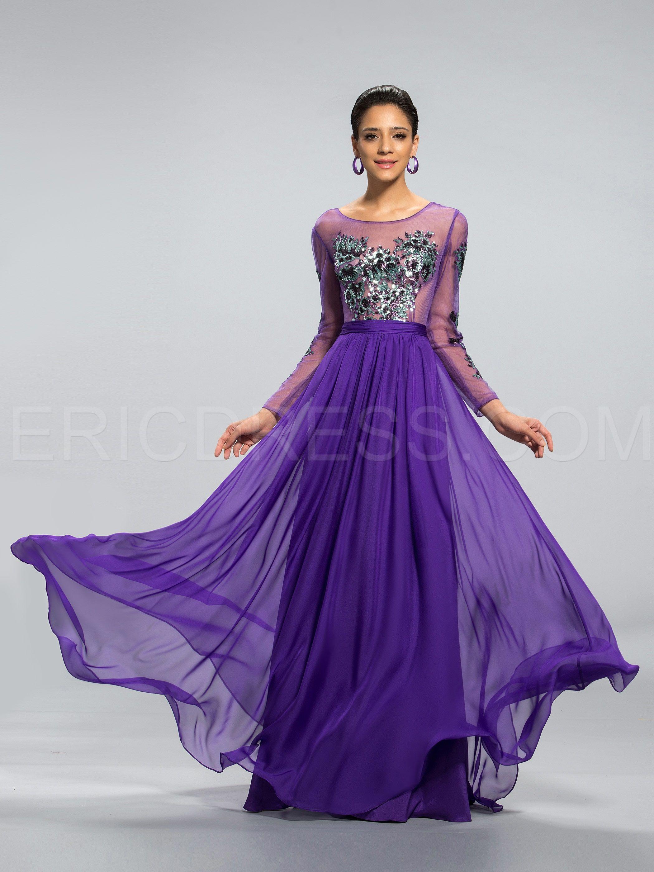 vestido morado   vestidos elegantes   Pinterest   Vestido morado ...