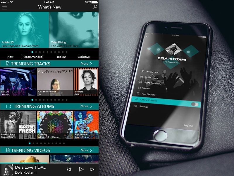 TIDAL Music App Concept | Free Sketch App Resources | Music