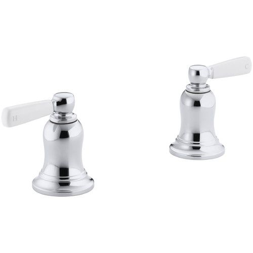 Bancroft Deck Mount High Flow Bath Valve Trim With White Ceramic Lever Handles Valve Not Included Kohler Bancroft White Ceramics Clawfoot Tub Faucet