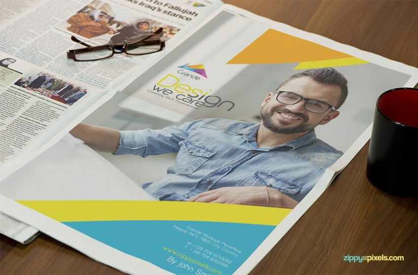 Newspaper Advertising Mockups Volume 2 | 6 Psd Mockups
