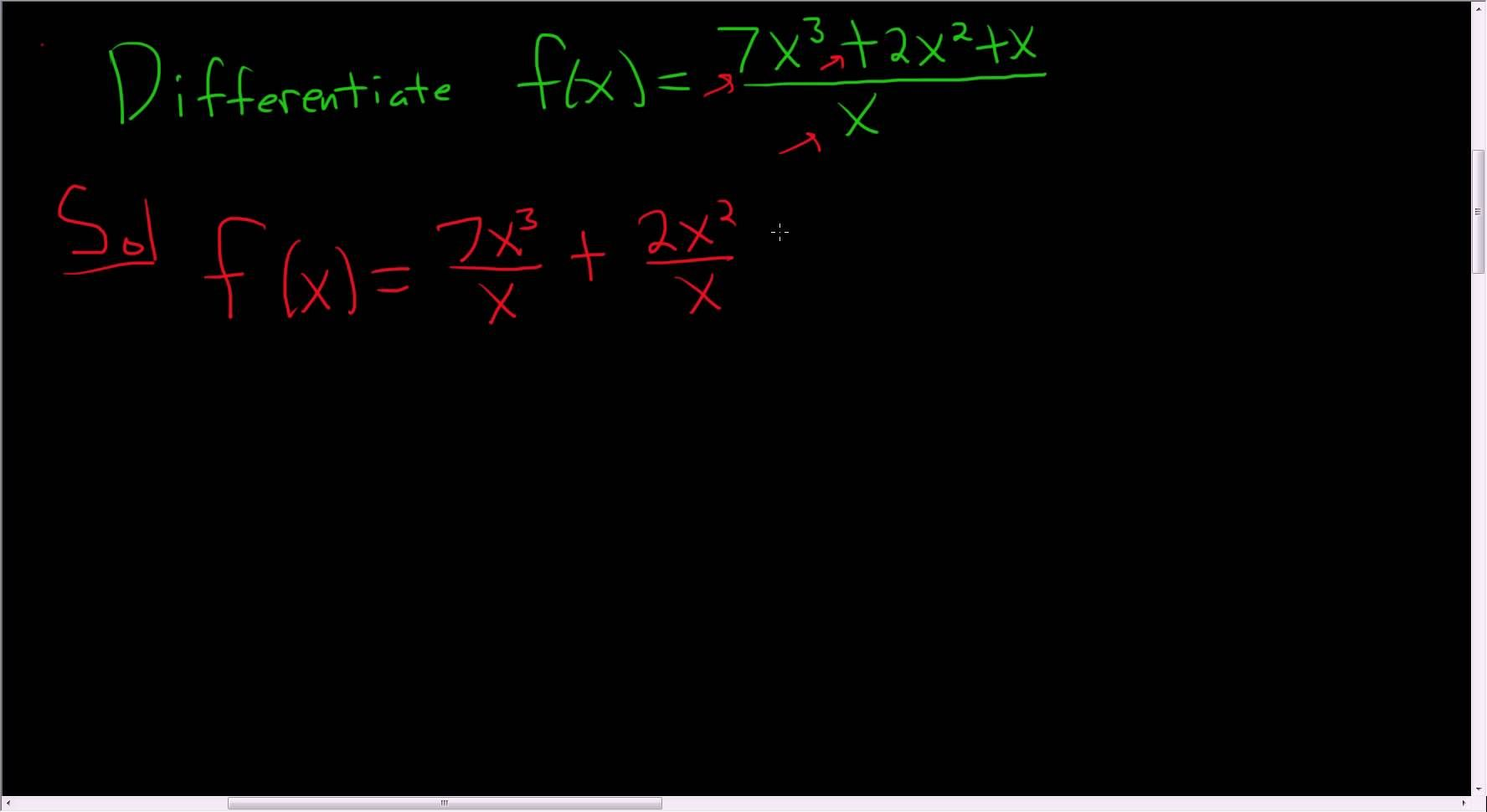 Finding the derivative of fx 7x3 2x2 xx