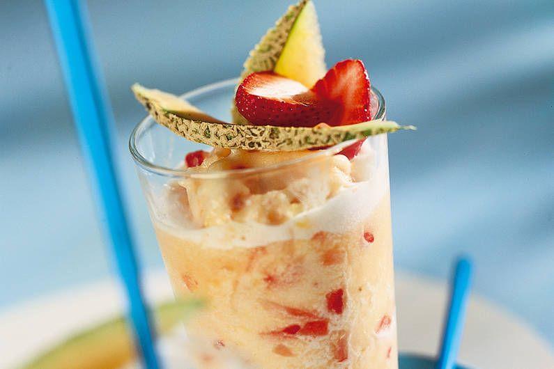 Das Rezept für Melon-Mood mit Erdbeere mit allen nötigen Zutaten und der einfachsten Zubereitung - gesund kochen mit FIT FOR FUN