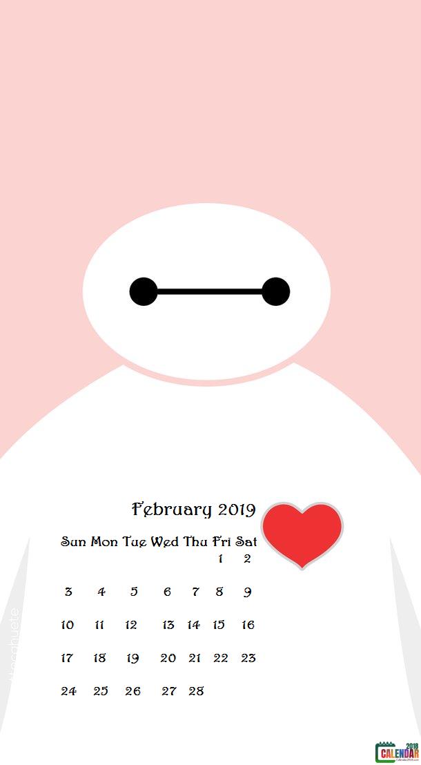 Cute February 2019 iPhone Calendar Wallpaper | Calendar ...