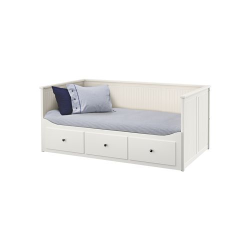 Ikea hemnes daybed frame with 3 drawers four for Divan double bed frame