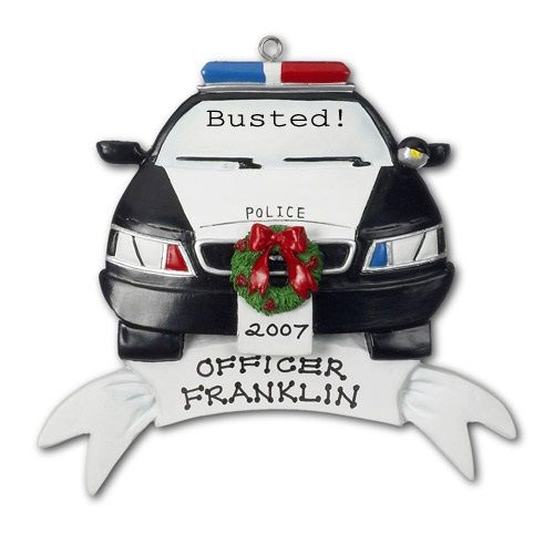 Police Car Ornament | Police gifts, Personalized christmas ...