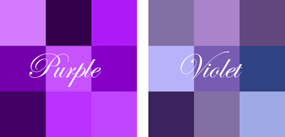 Difference Between Violet And Purple