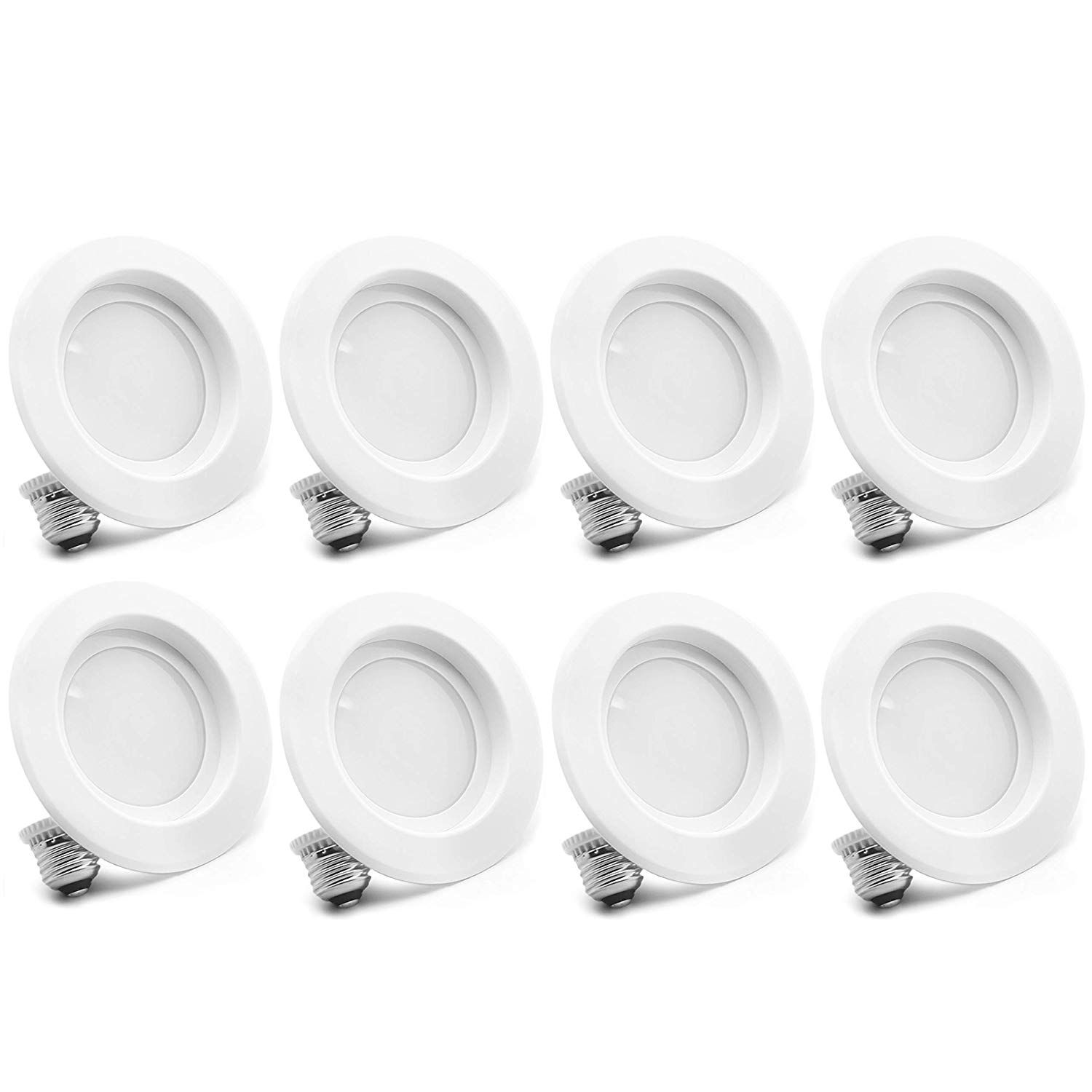 8 Pack Bioluz Led 4 Inch 12watt 90 Cri Dimmable Led Retrofit Recessed Lighting Fixture 2700k Recessed Lighting Retrofit Recessed Lighting Led Ceiling Lights