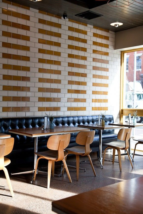 Large Subway Tile With Padded Walls Using White Brown Leather Wall