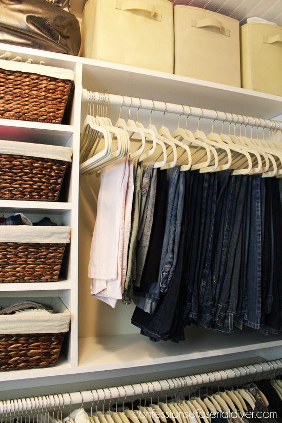 10 Tips To A Better Closet Best Closet Organization Hanging Pants Closet