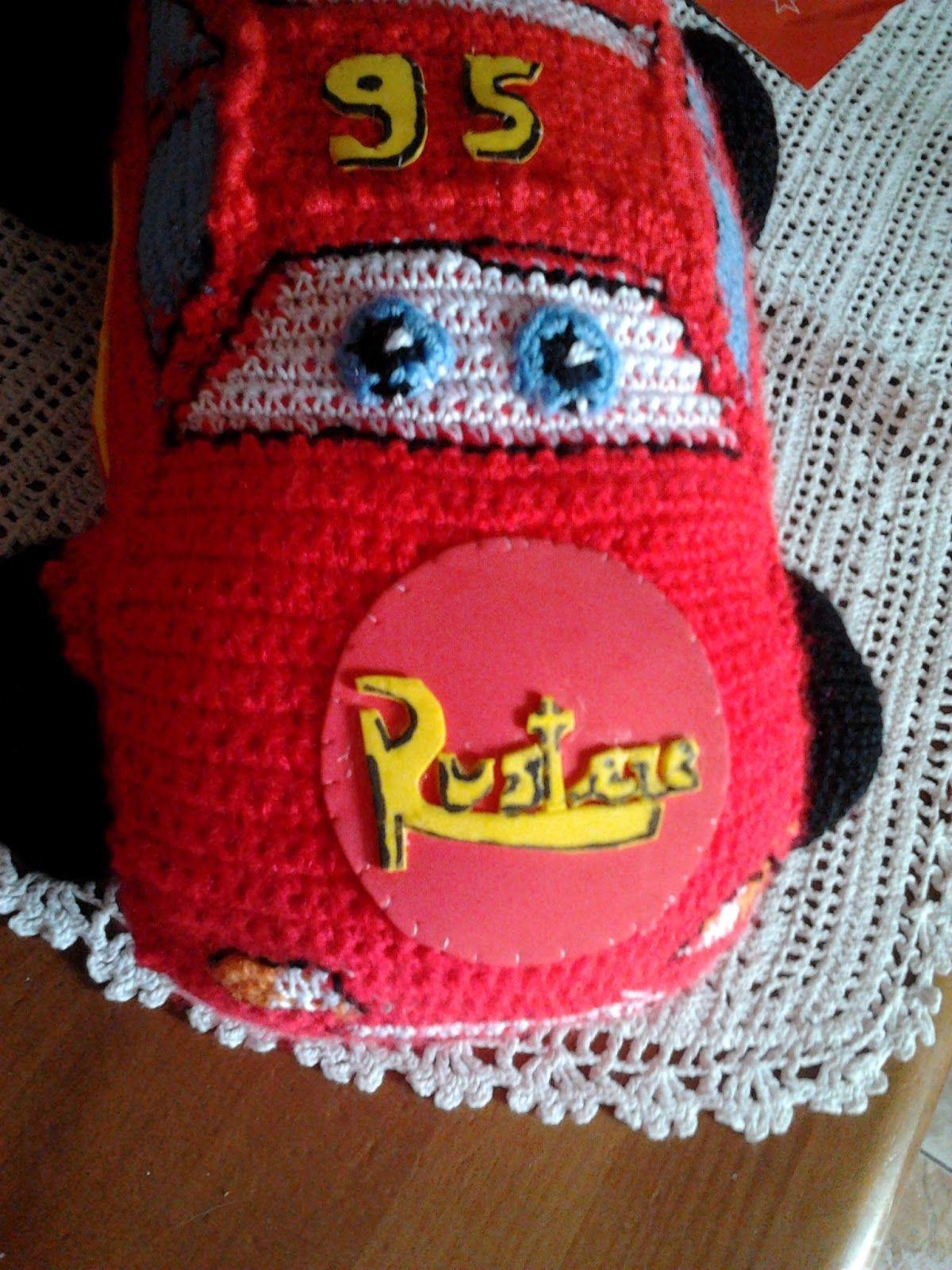 Me quedó precioso, fue un regalo para un nene y le encantó. En esta página encontré el patrón:   http://hastaelmonyo.com/?p=485 ...