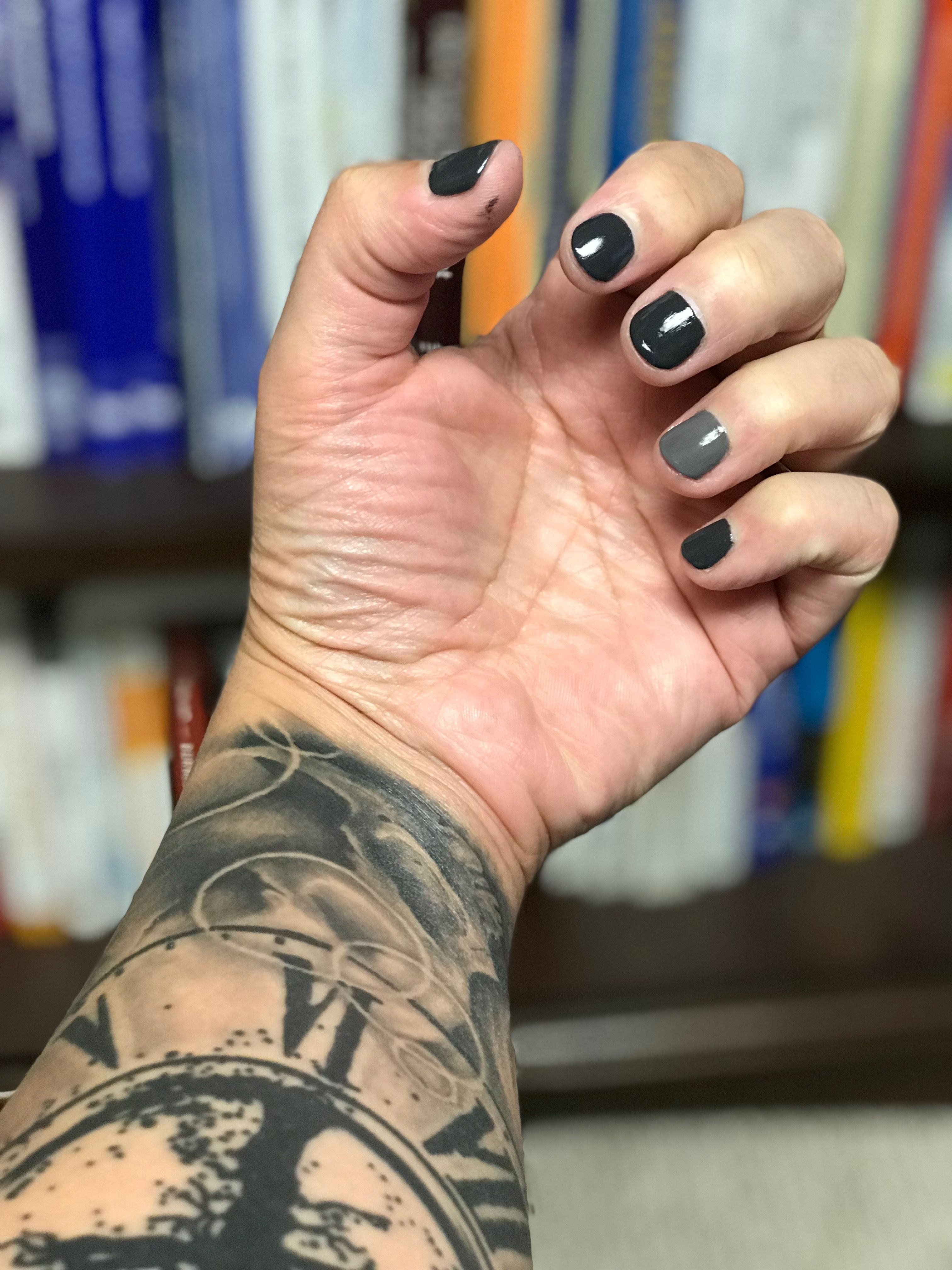OPI Strong Coal-ition & Steel Waters Run Deep #malepolish | mani men ...