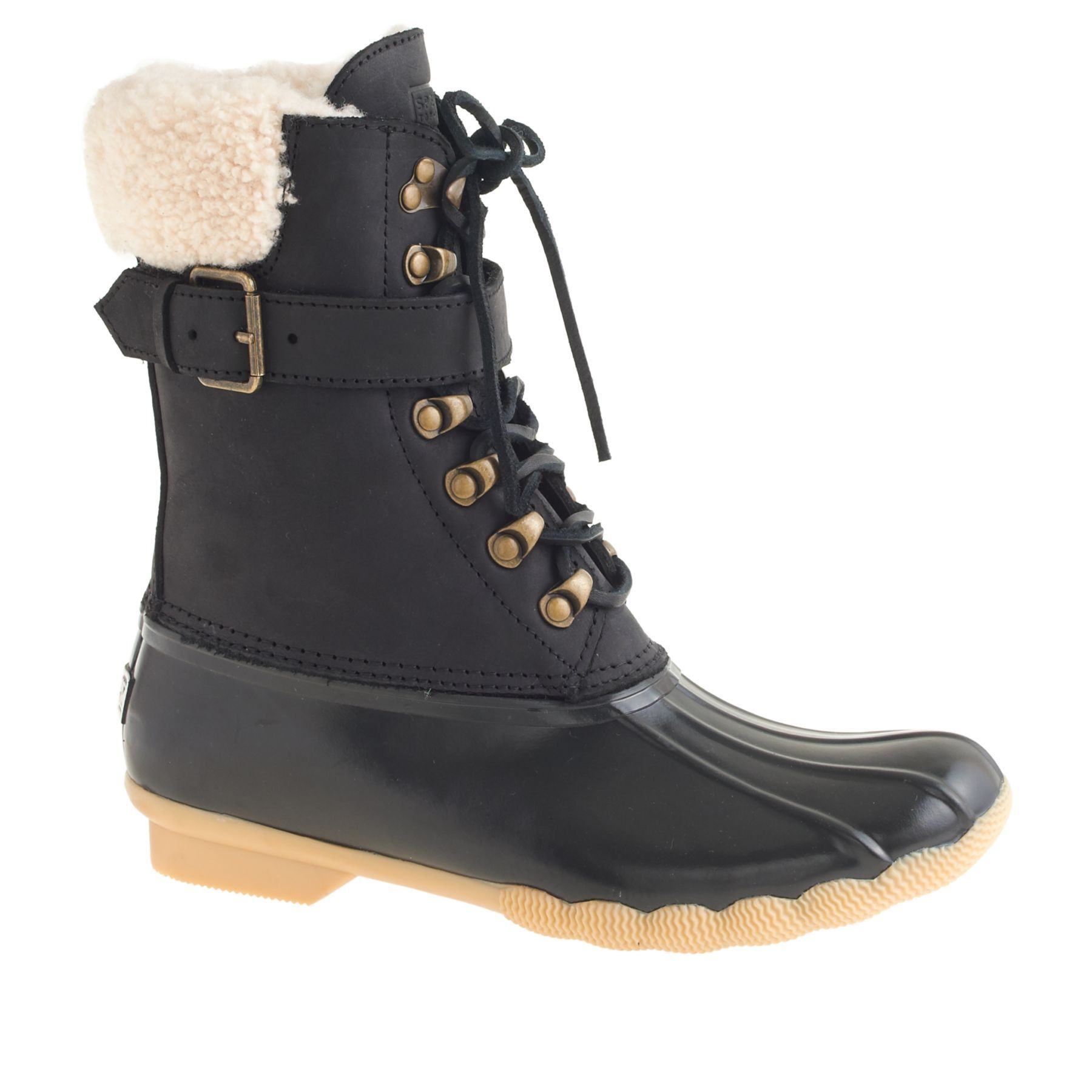 8a46f9aa48822 Women s Sperry Top-Sider for J.Crew shearwater buckle boots.