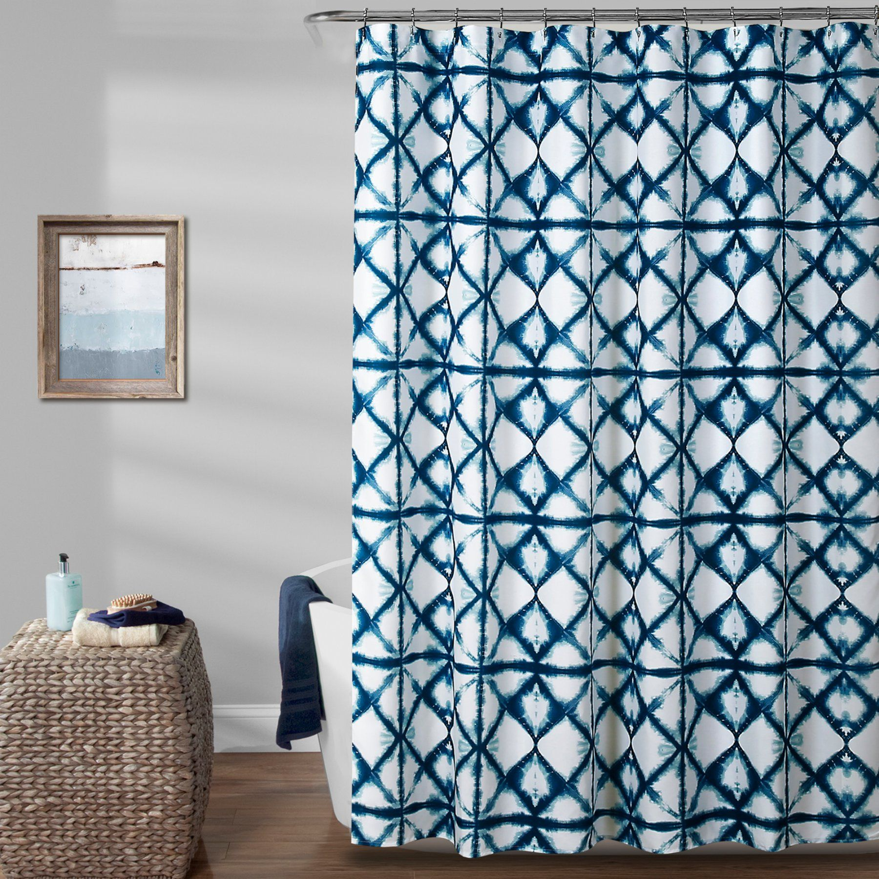 L shaped window curtain ideas  lush decor geo shibori polyester shower curtain in   products