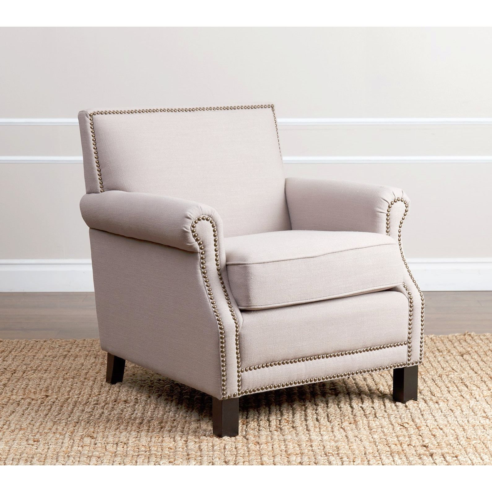 ABBYSON LIVING Chloe Beige Linen Club Chair Overstock Shopping