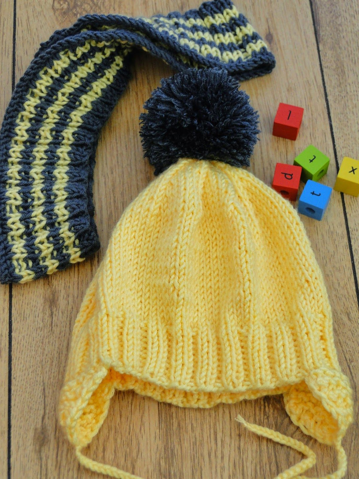 Ear Flap Hat With Scarf Pattern | Hat knitting patterns ...