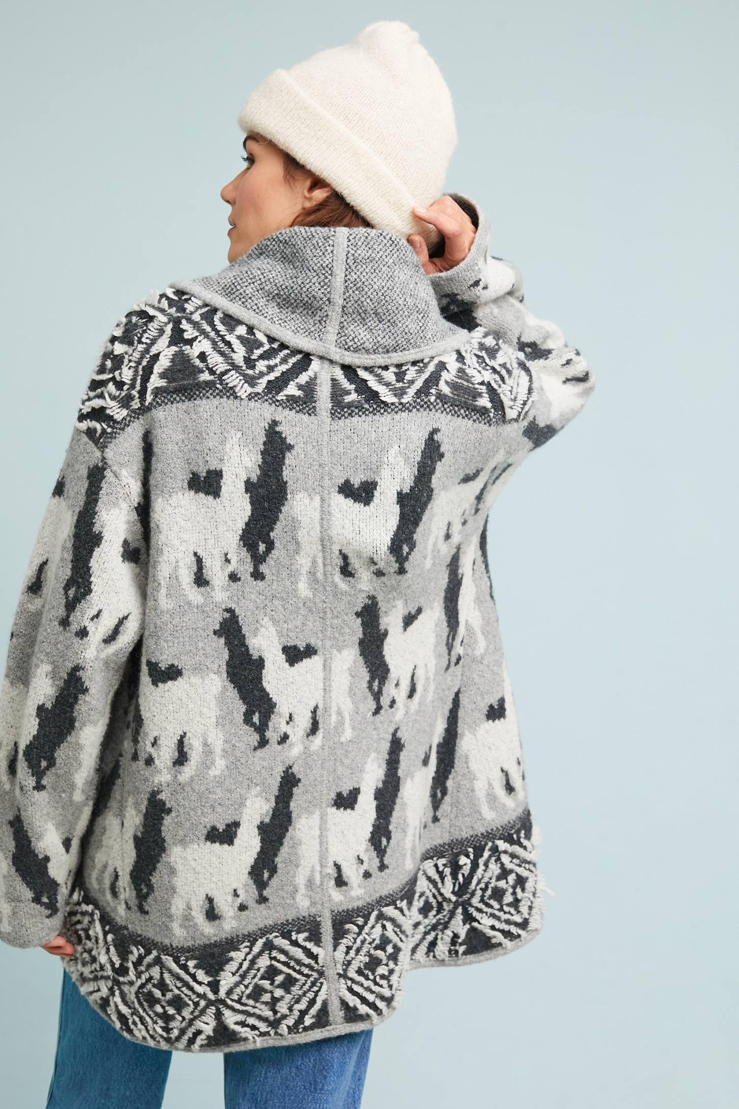 9d8f99e106 Llama Knit Cardigan