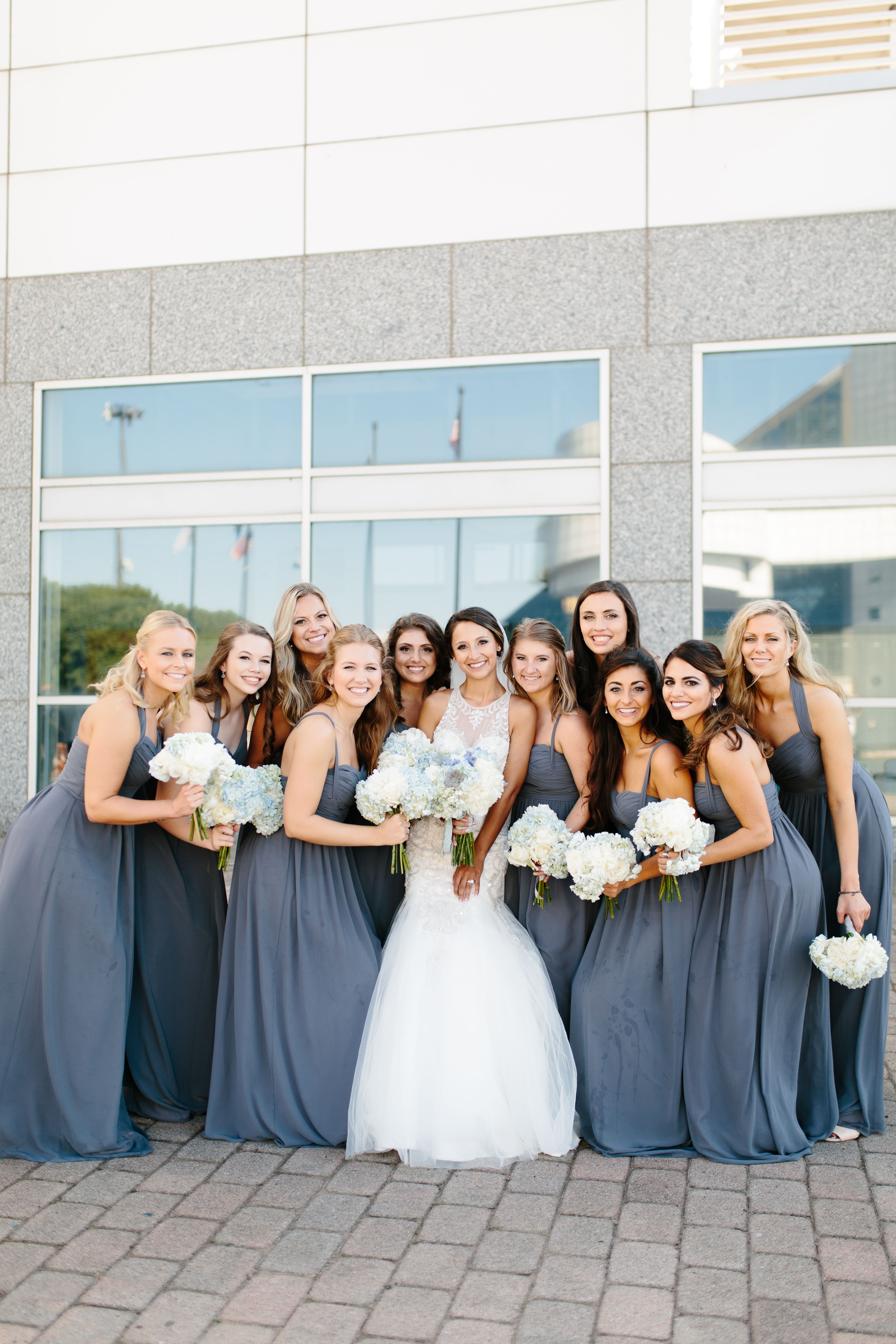 Grey bridesmaids dresses at cleveland nautical wedding ar grey bridesmaids dresses at cleveland nautical wedding ombrellifo Image collections