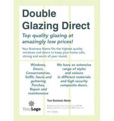 A6 Double Glazing Leaflets #printing #flyers #designs #windows - clothing drive flyer template