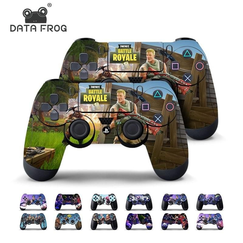 Data Frog 2 Pcs Fortnite Sticker For Sony PlayStation 4 PS4
