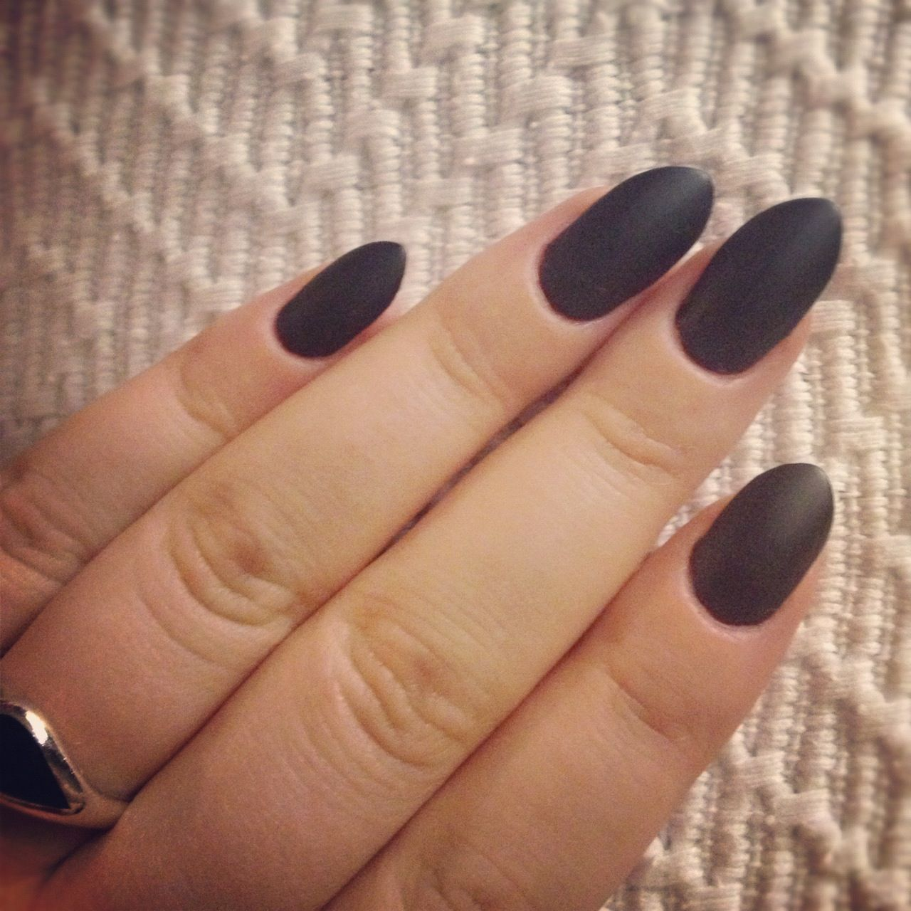 Rounded dark matte acrylics | Daily Life | Pinterest | Acrylics ...