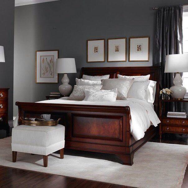 Pin By Pirarat Nurot On Interior Design Ideas Brown Furniture Bedroom Master Bedrooms Decor Dark Wood Bedroom Furniture