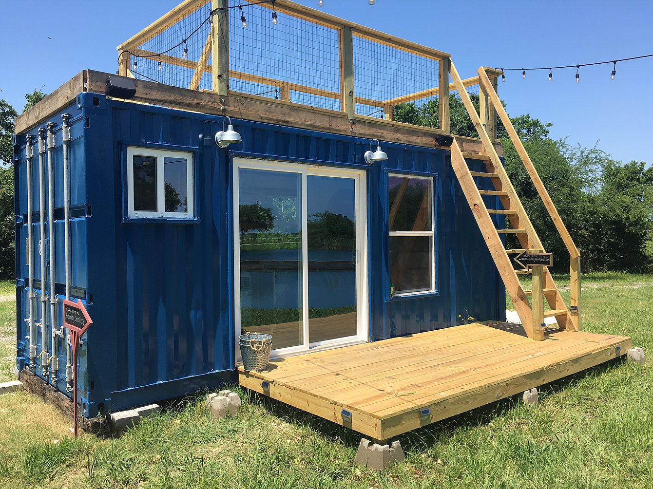 The Rustic Retreat Is Made Out Of One 20 Foot Container