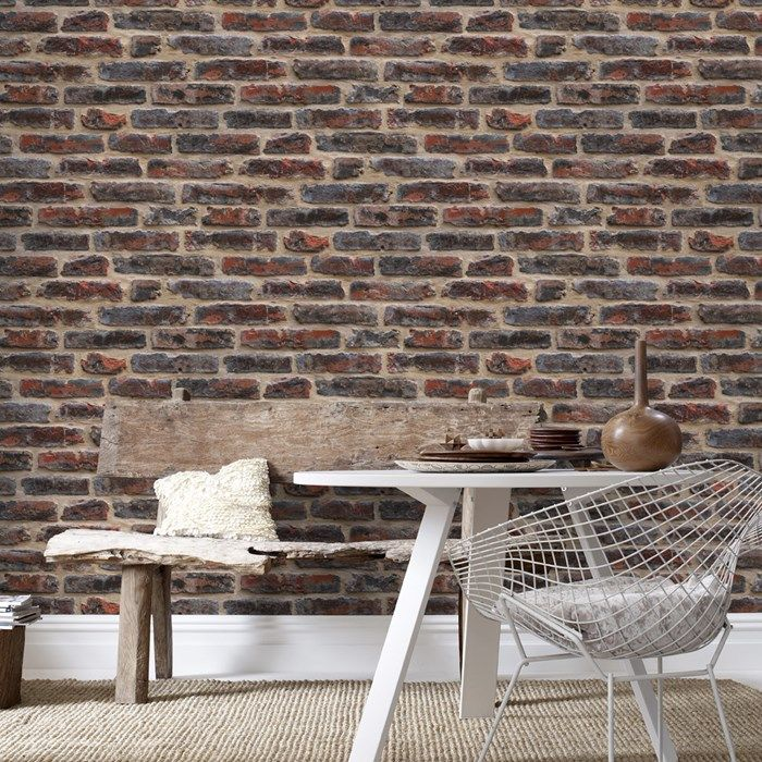Industry Rouge Industrial Apartment Decor Contemporary Wallpaper Designs Brick Effect Wallpaper