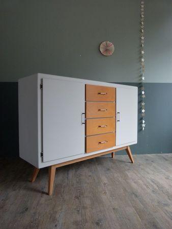 bahut pieds compas buffet enfilade repainting furniture upcycled furniture et vintage furniture. Black Bedroom Furniture Sets. Home Design Ideas