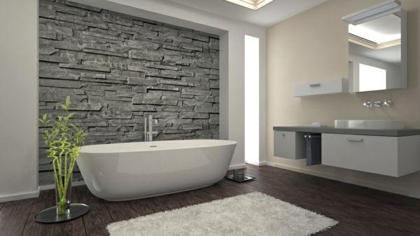 wandgestaltung mit fliesen in natursteinoptik in badezimmer bathrooms koupelny pinterest. Black Bedroom Furniture Sets. Home Design Ideas