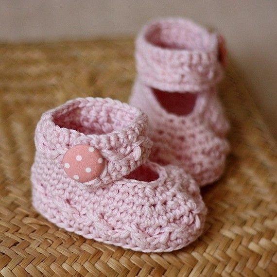 Crochet PATTERN - Polka Dot Baby Mary Janes | Accesorios de crochet ...