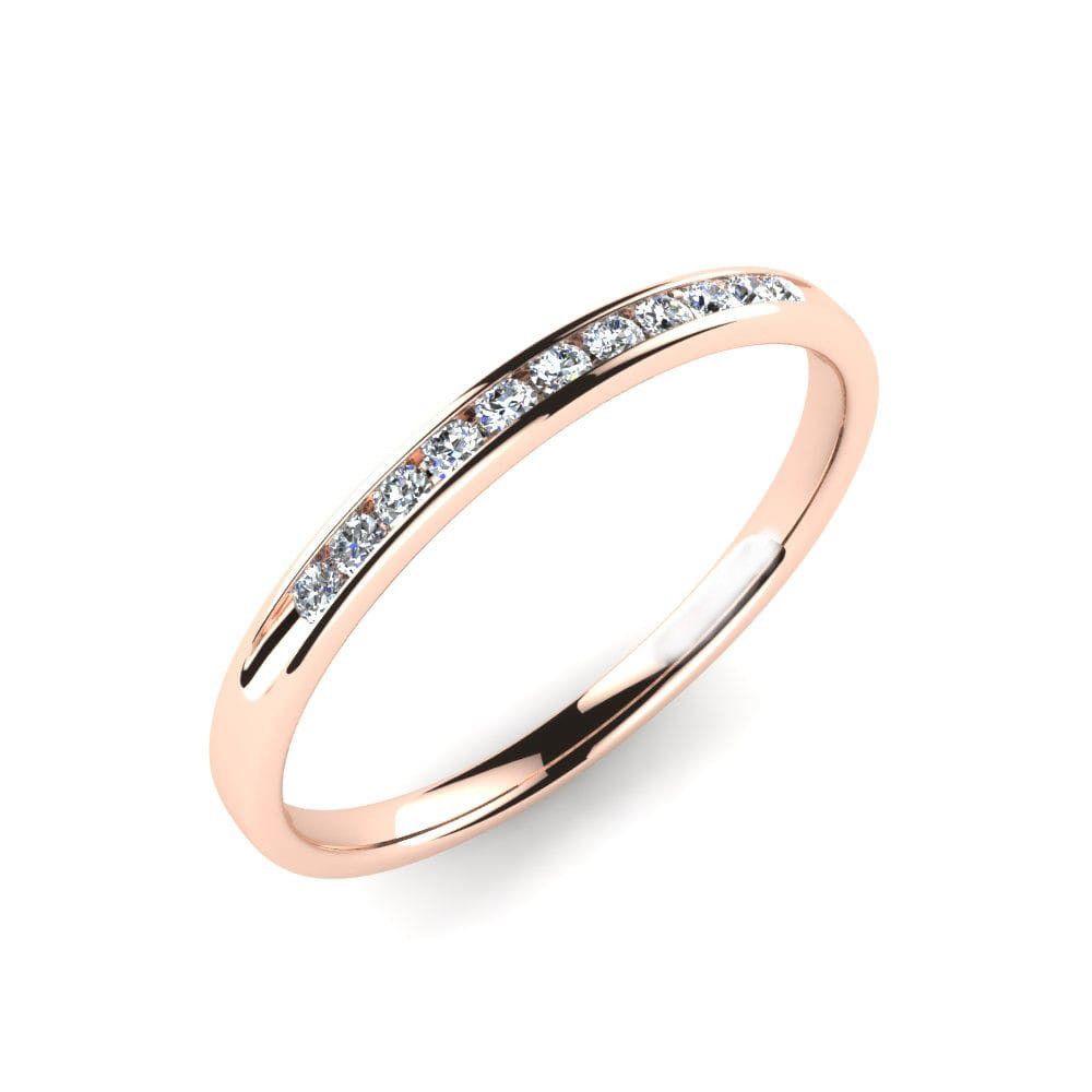 IGI Certificate Round Diamond Channel Set Eternity Wedding