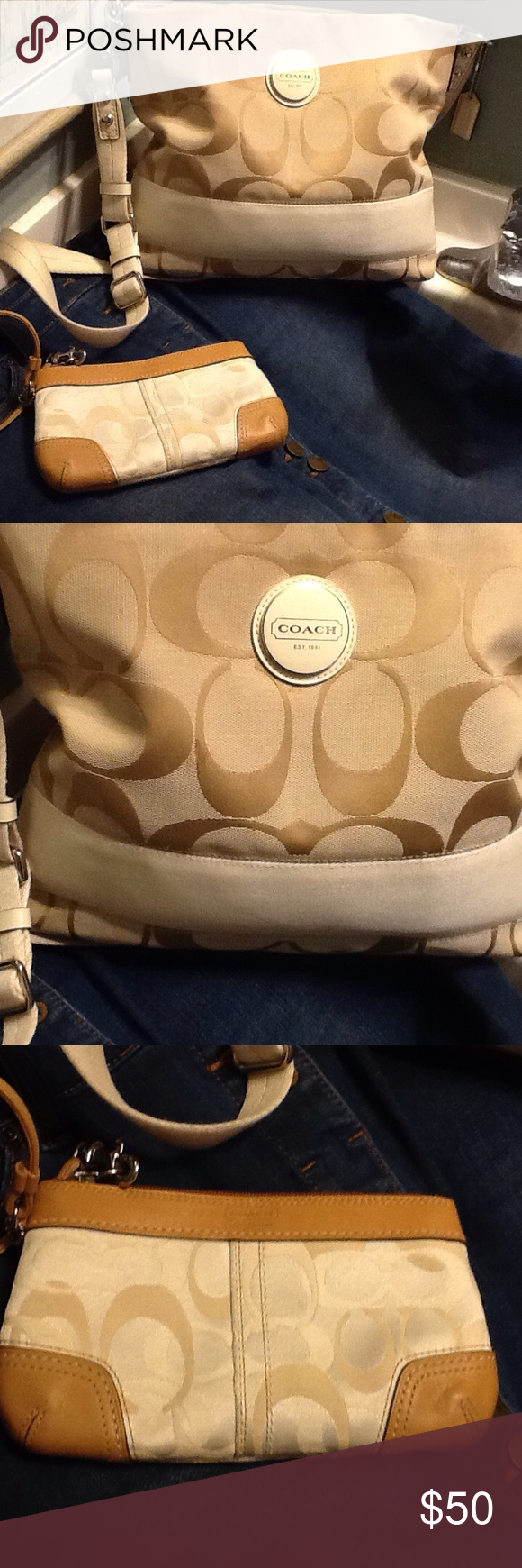 Coach cross body and wallet Great condition! Coach Bags Crossbody Bags