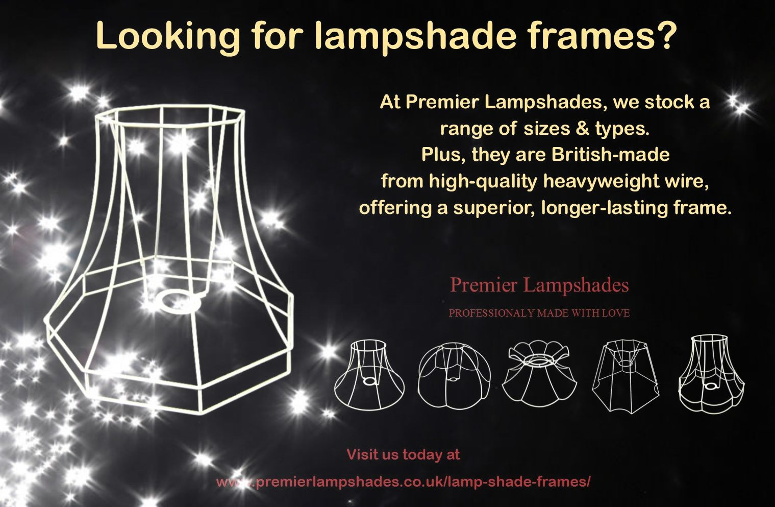 How to find wire lampshade frames in uk wire lampshade lampshades if you are looking for lampshade frames for a new lighting project we can help greentooth Images