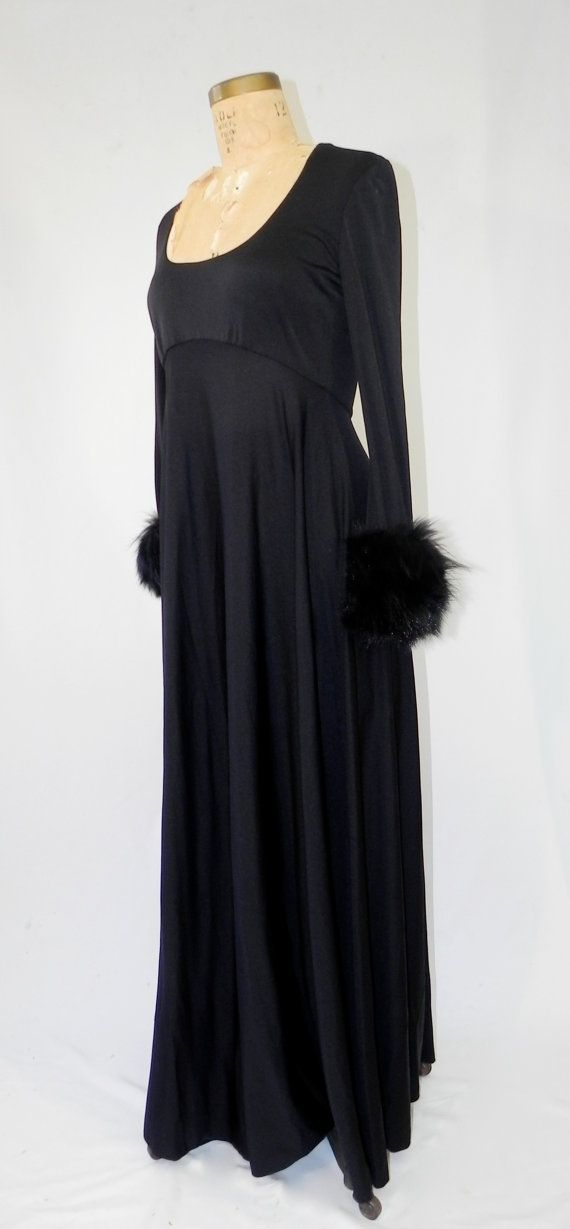 stunning vintage 1960s victoria royal ltd full length dress // gothic wedding by SansEpochVintage, $125.00