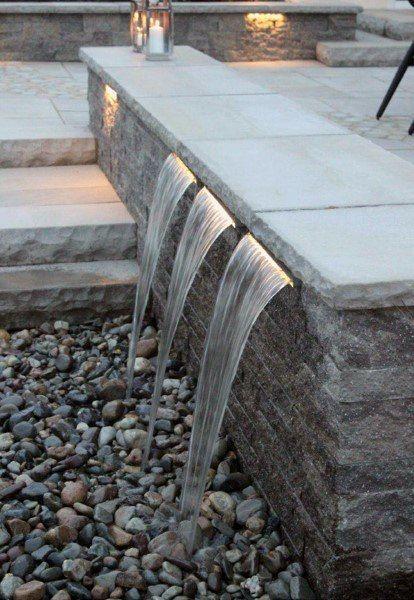 Top 70 Best Backyard Waterfalls - Water Feature Design Ideas #waterfeatures