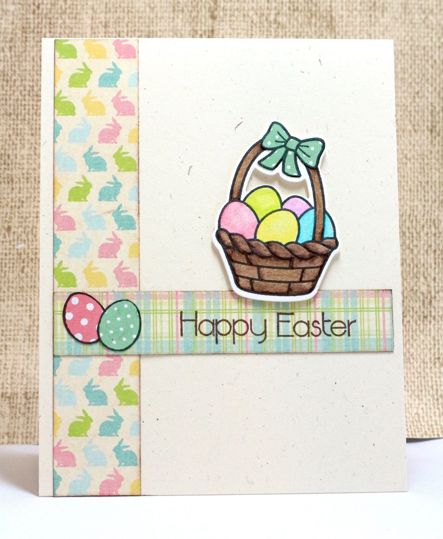 Easter cards for kids easter egg basket easter eggs card