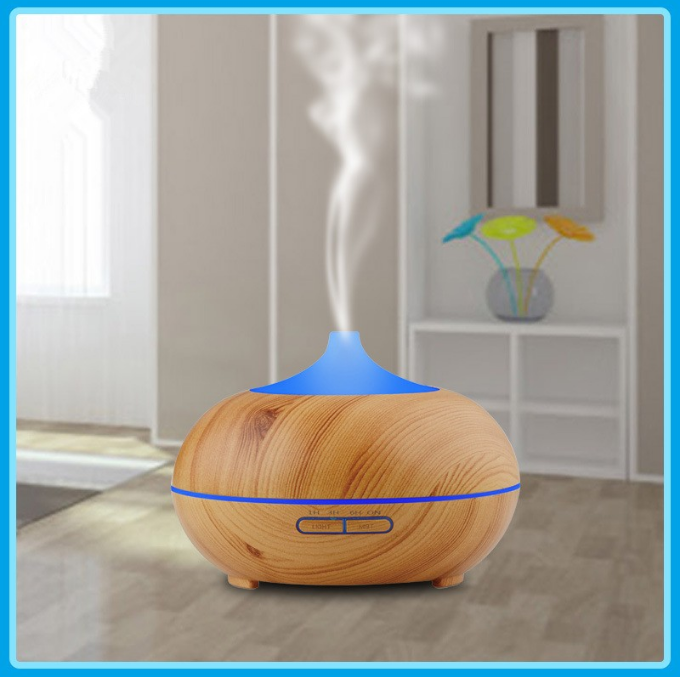Essential Oil Diffuser, 300ml Marble Grain Air Aromatherapy Ultrasonic Aroma Cool Mist Humidifier with 7 Color LED Lights