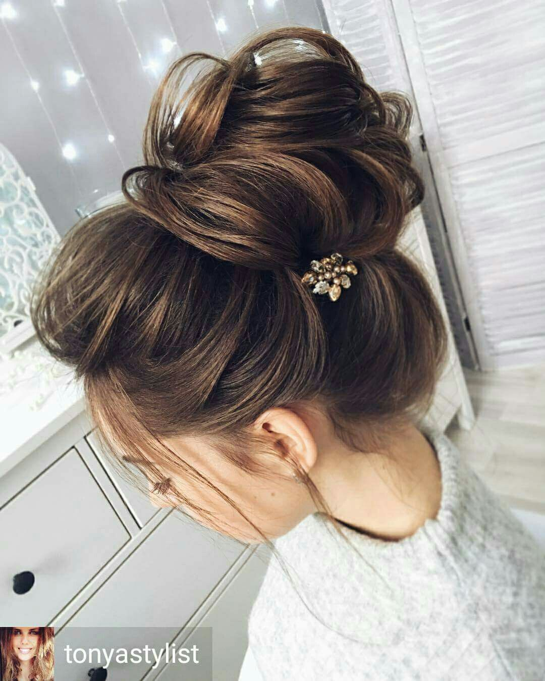 pin by jessica nieva on hair | bun hairstyles for long hair